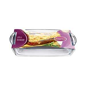 Alorno Borosilicate Glass, Easy Hands, Rectangular Roaster Baking Dish, 1.5 Ltr