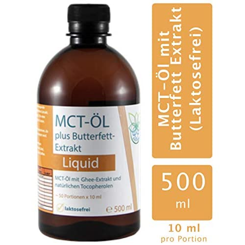 Vitaragna Mct L Und Ghee Extrakt Als Gebrauchsfertige All In One Lsung Laktosefrei Butterfett Extract Caprylsure C 8 Caprinsure C 10 500 Ml Mct Oil Pet1 Flasche