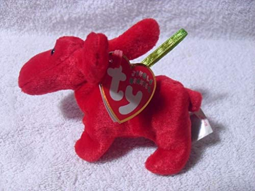 Rare ty Beanie Babies Jingle Beanies Rover The red Dog - mwmt Happy Holidays!