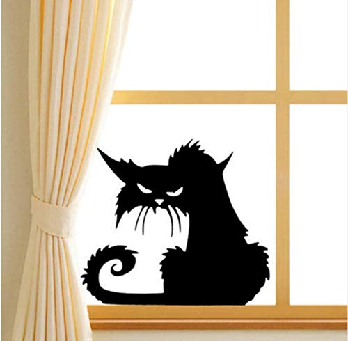 Heimgebrauch Schwarze Lustige Katze Abnehmbare Autofenster Wand Laptop Halloween Vinyl Aufkleber Aufkleber Home Decor 2019 (Halloween 2019 Wallpaper)