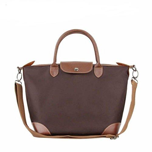 BEKILOLE , Damen Umhängetasche Gr. Medium, braun (Handtasche Longchamp Große)