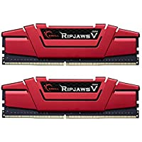 G.SKILL Ripjaws V Series F4-2400C15D-8GVR 8 GB (4 GBx2) DDR4 2400 MHz C15 1.2 V Memory Kit - Blazing Red