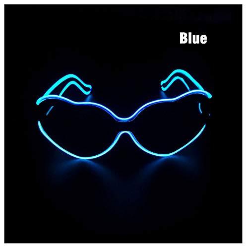 Auslöser EL-Brille, LED leuchtende Modesonnenbrille, geeignet für Weihnachtsgeburtstagsfeiern, Konzert-Karneval, Bar-Performance, personalisierte Dekoration,Blue