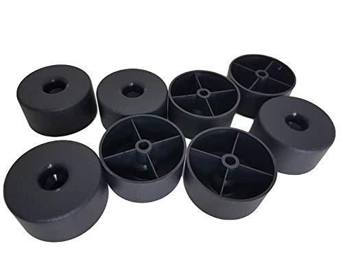 (8Stück Pcs) Möbel Beine rund, Material Kunststoff Schrauben nicht im Lieferumfang enthalten (Kunststoff-möbelfuß)