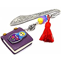 Marque pages livre matriochka phosphorescent, marque page polymer clay, signet de livre, bookmarks gift, livre lumineux, poupée russe