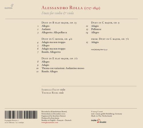 Rolla / Duets for Violin & Viola
