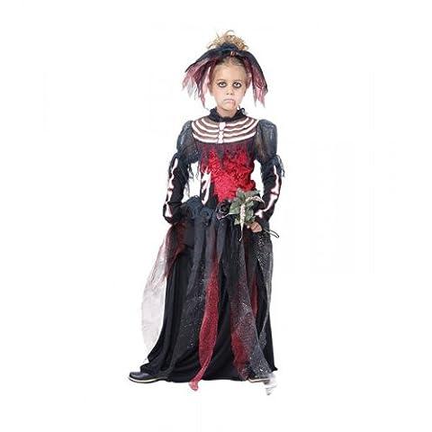 Corpse Bride Costume Enfant - Skeleton Corpse Bride costumes grandes 8-10 ans.
