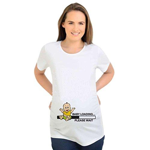 Binhee vestiti premaman semplice sciolto tempo libero stampa digitale vestiti per bambini modello t-shirt a maniche corte