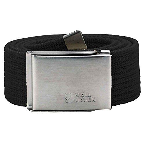 Fjällräven Herren Gürtel Canvas Belt, Black, One Size