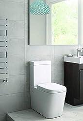 Sorrento Bathware Back to Wall Toilet Close Coupled WC White Ceramic Soft Close Seat Modern Design