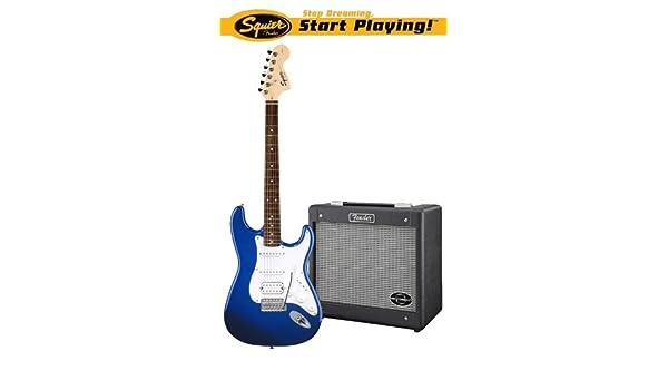 Squier: Affinity Stratocaster HSS/G-DEC Junior Pack - Blue