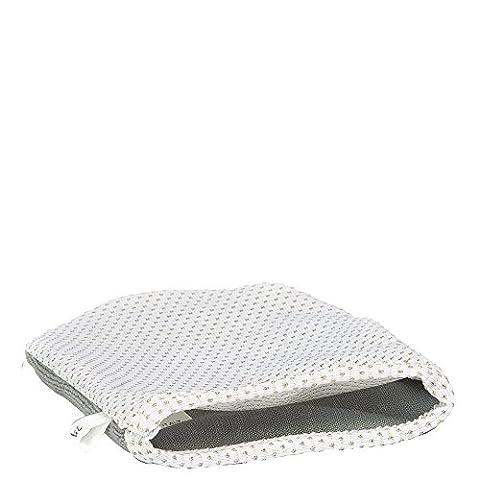Italian Silver Idea Beauty-Glove | Make-up Entferner Handschuh für samtweiche Haut | Peeling Handschuh mit Silbergarn | entfernt Make-Up nur mit Wasser | Grau