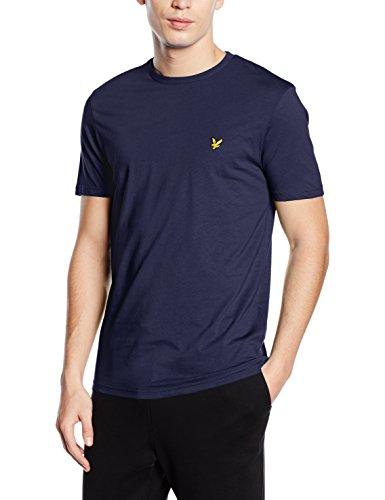 Lyle & Scott - Crew Neck, T-shirt Uomo, Blu (Navy), Large