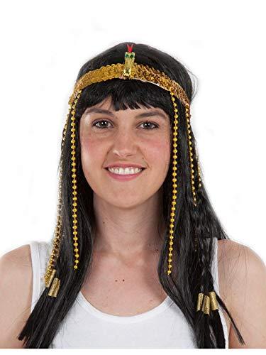 Diadema egipcia elástica de color oro