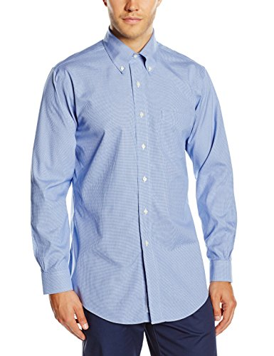 brooks-brothers-dress-non-iron-botton-down-regent-camisa-para-hombre-azul-blue-61-42-cuello-in-16-ma