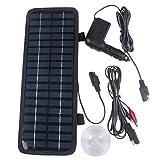 EBILUN Potente Cargador de batería portátil de Panel Solar para Coche, 12 V, 200 mAh, 3,5 W