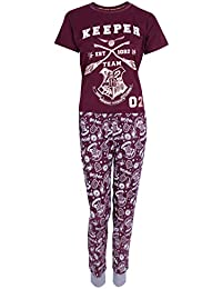 Harry Potter Pijama de Color Burdeos Hogwarts