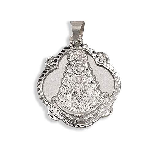 Medalla Religiosa - Virgen del Rocío Pandereta 30 mm. Plata de Ley 925 milésimas
