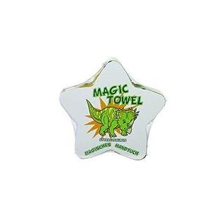 Magisches Handtuch Magic Towel Zauberhandtuch Dinosaurier Dino T-Rex Triceratops Mitbringsel Party Badespass Kinder Waschlappen