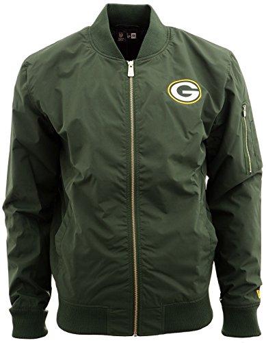 New Era Ne97052Fa16 NFL Bomber Grepac Cig - Jacke-Linie Green Bay Packers für Herren, Farbe Grün, Größe L