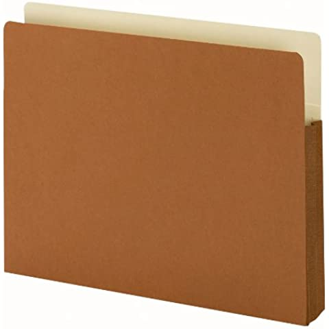 1 3/4 Accordion Expansion File Pocket, Straight Tab, Ltr, Manila/Redrope, 25/Bx, Sold as 1 Box