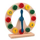 hibote los cabritos del bebé Los primeros juguetes educativos, aprendizaje simple reloj de madera, juguetes de lujo reloj de madera Tiempo de enseñanza de Juguetes