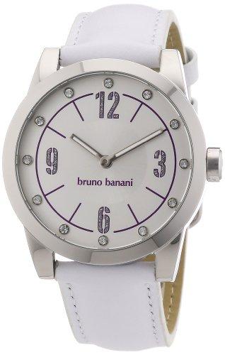 Bruno Banani - BR21115 - Montre Femme - Quartz Analogique - Bracelet Cuir Blanc