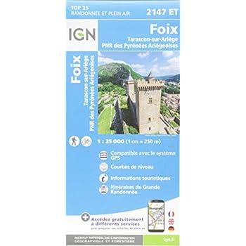 Foix, Tarascon-sur-Ariège, PNR des Pyrénées Ariégeoises : 1/25 000