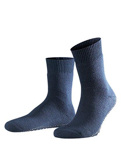 FALKE Herren Stoppersocken Homepads, Baumwolle/Wollmischung, 1 Paar, Blau (Marine 6120), Größe: 43-46