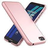 NALIA Handyhülle für Huawei Y5 (2018), Dünne Hard-Case Hülle Schutzhülle Matt, Ultra-Slim Cover Etui leichte Handy-Tasche, Smart-Phone Backcover Skin Bumper für Huawei Y5-(18), Farbe:Rose Gold