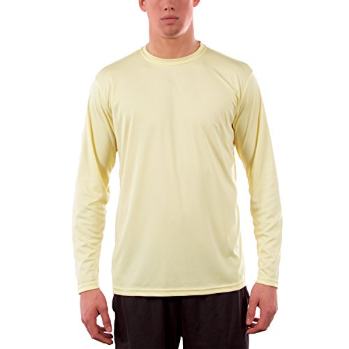Vapor Apparel Herren UPF 50+ UV Sonnenschutz Langarm Performance T-Shirt Blassgelb