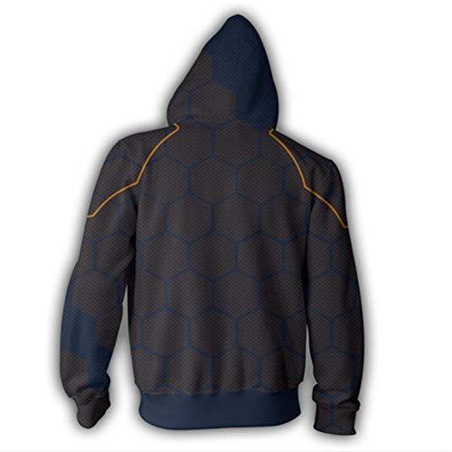 RJHWY 3D Hoodie Sweatshirt Unisex Pullover Kapuzenjacke Kleidung Mantel Reißverschluss The Avengers Iron Man XL