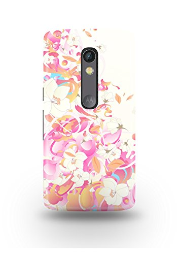 Moto X Play Cover,Moto X Play Case,Moto X Play Back Cover,Soft Romantic Floral Pattern Moto X Play Mobile Cover By The Shopmetro-12402