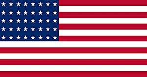 magFlags Flagge: Large US 40 Star | Querformat Fahne | 1.35m² | 85x160cm » Fahne 100% Made in Germany