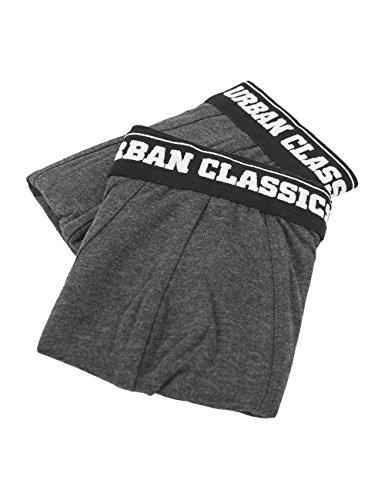 Urban Classics Mens Shorts Double Pack, Boxer Uomo, Grau (Cha/Cha 743), Large