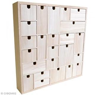 Artemio Wooden Advent Calendar to Decorate Geometric, Wood 40 x 6.5 x 40 cm