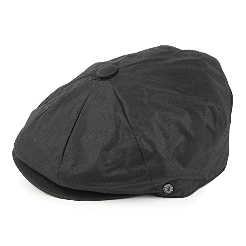 5e18f8b7a02 Jaxon   James Oilcloth Newsboy Cap - Black - Buy Online in Oman ...