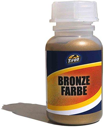 Bronze Farbe 100 ml Hochpigmentierte Metallic Effekt Farbe - Patinierbare Metallic Acryl Bronze Farbe - Alterungseffekte und Tiffany Patina auf allen Oberflächen