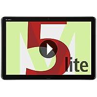 """Huawei Mediapad M5 Lite 10 WIFI con Un Display da 10.1"""" in 16:10, Processore da 2.4 GHz, Memoria RAM da 3 GB, Memoria Interno da 32 GB, Grigio"""