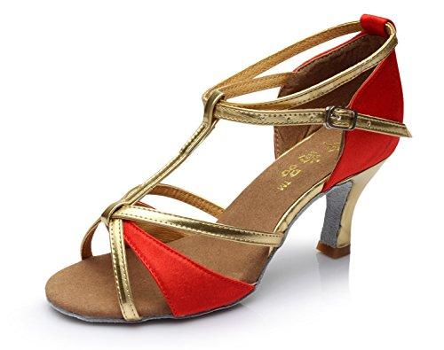 JSHOE Womens T-Strap Chaussures De Danse Salsa/Tango/Chacha/Samba/Moderne/Jazz Chaussures Sandales Talons Hauts