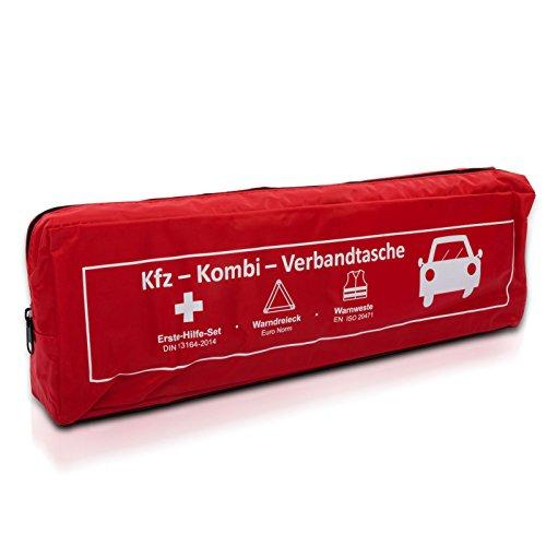 Preisvergleich Produktbild KFZ-Kombi-Verbandstasche | DIN 13164 | Mit Warnweste und Warndreieck