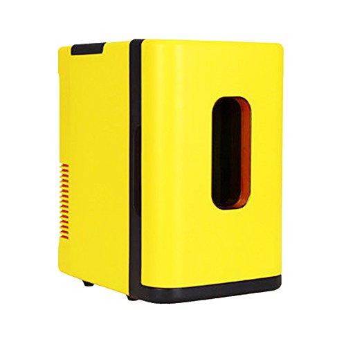 Mini Cooler-wasser-flasche (10L Auto Kühlschrank / Gelb Portable Mini Kühlschrank / 12V Auto Kühlschrank / 220V Haushalt Kleine Kühlschrank / Picknick im Freien Kühlschrank / Schlafsaal Student Cooler / Kleine Kühlschrank / 31.5 * 21.5 * 34.5cm)