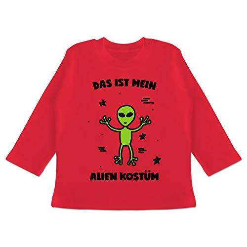 g Baby - Das ist Mein Alien Kostüm - 12-18 Monate - Rot - BZ11 - Baby T-Shirt Langarm ()