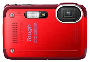 Olympus TG-630 Digitalkamera (12,7 Megapixel, 5-fach opt. Zoom, 7,6 cm (3 Zoll) LCD-Display, Full HD, Wasserdicht bis 5m) rot