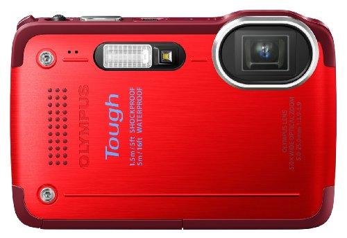Olympus TG-630 Fotocamera Digitale, 12 Megapixel, Zoom Ottico 5x, Display LCD da 7.6 cm (3 Pollici), Full HD, Impermeabile Fino a 5 m, Colore Rosso