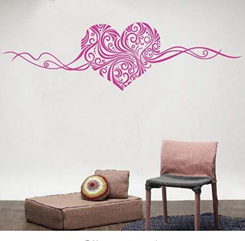 Romantische Herz abnehmbare Wandaufkleber Wohnkultur Wandkunst LIEBE Hochzeitsdekoration Mittelstücke Familie Abziehbilder 150x40 cm