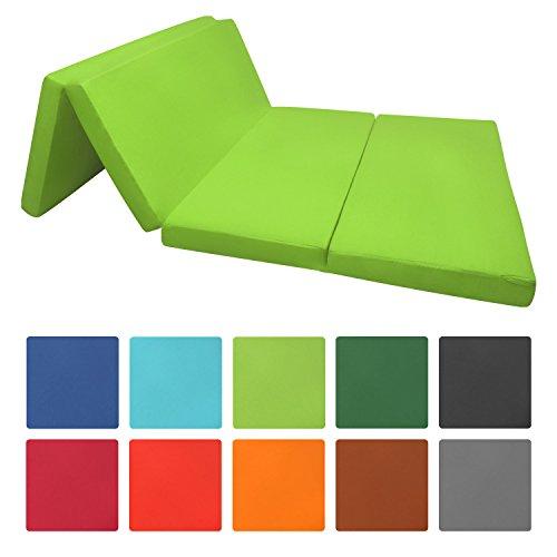 Beautissu materassino campeggio futon pieghevole ospiti campix 120x195 soffice confortevole e funzionale verde