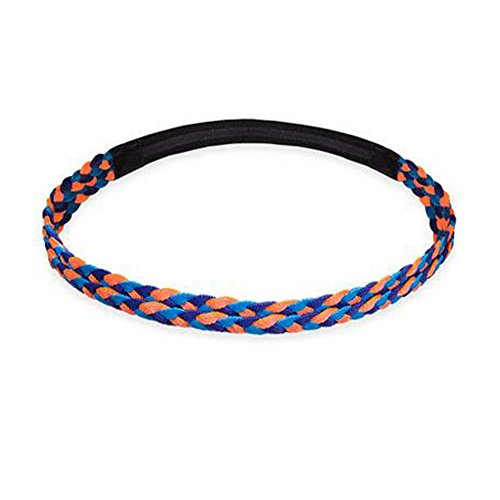 Black Temptation Femmes/Hommes Yoga Headband Non-Slip Hair Band Headwear Sport_Orange Bleu Ciel