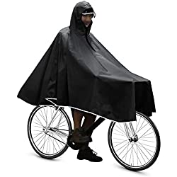 Anyoo Capas de Ciclismo Impermeables Portátiles Ligeras Poncho de Lluvia Bicicleta Compacta Unisex Reutilizable para Mochileros de Camping al Aire Libre