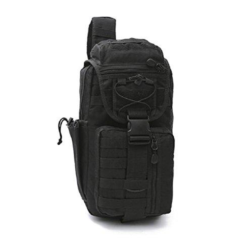 LJ&L Outdoor Multifunktions-Bergsteigen Tasche Camouflage einzigen Schultertasche gehen Camping taktischen Rucksack, 36-55L Nylon wasserdicht reißfeste hochwertige Outdoor-Rucksack B